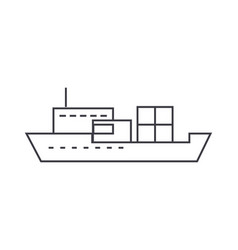 ship thin line icon concept ship linear vector image