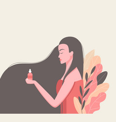 Skin care and cosmetics concept vector