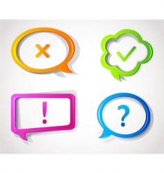 speech bubble color vector image