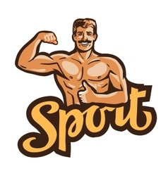 Sport logo gym or bodybuilding icon vector