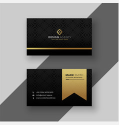 Stylish black and golden business card design vector