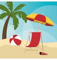 Summer holiday and vacations design vector