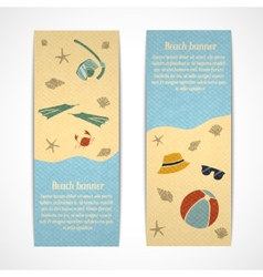 Summer vacation banners vertical vector image