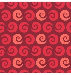 Swirl raspberry seamless pattern vector image