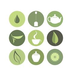 Tea Icon set vector image