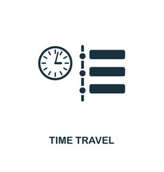 time travel icon premium style design from future vector image