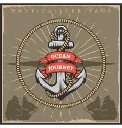 Vintage Sailor Naval Poster vector