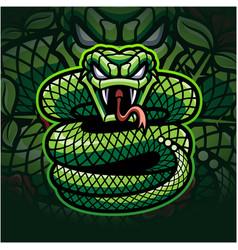 Viper esport mascot logo design vector