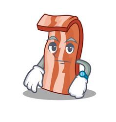 Waiting bacon mascot cartoon style vector