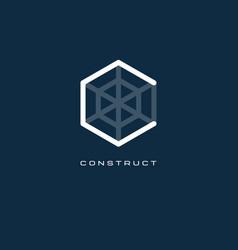 c monogram c letter construct logo vector image