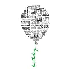 Conceptual birthday words as balloon vector image vector image