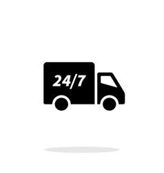 Delivery service seven days a week icon on white vector image vector image