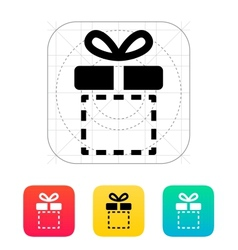 Gift box empty icons on white background vector image vector image