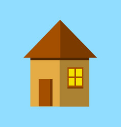 house flat icon flat style vector image vector image