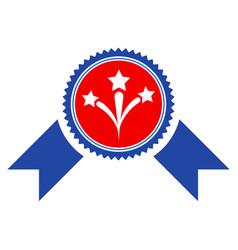 pyrotechnics award seal flat icon vector image vector image