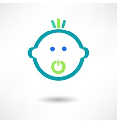 Cartoon cute baby with pacifier vector image vector image