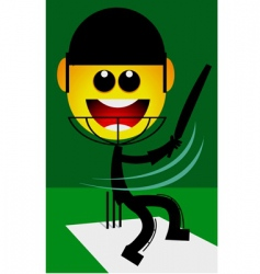 cricketer vector image