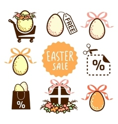 Easter sale icons vector image