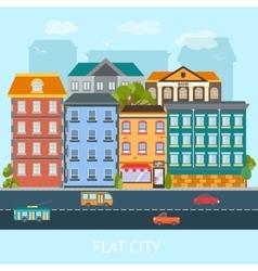 Flat City Design vector image vector image