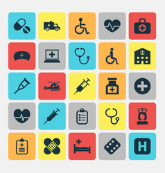 medicine icons set collection of handicapped vector image