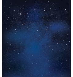 Night sky stars background vector