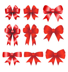 red ribbons christmas vector image vector image