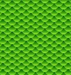 Seamless small green fish scale pattern vector image