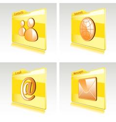 Set of folders vector image