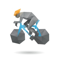 Racing cyclist abstract vector