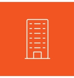 Residential building line icon vector image vector image