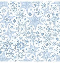 Snowflakes seamless patternWinter crystal stars vector image