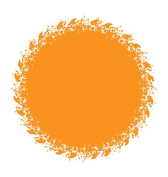 Sun and halftone design element vector image vector image