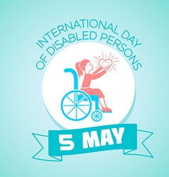 5 may International Day of Disabled Persons vector image vector image