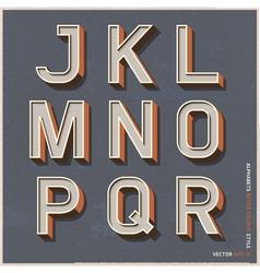 Alphabet retro color vector image vector image