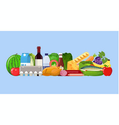grocery set product vector image