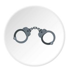 handcuffs icon circle vector image