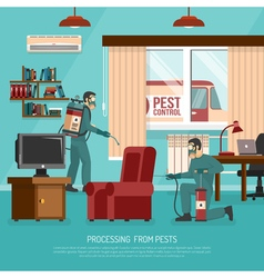 Interior Pest Control Treatment Flat Advertisement vector image vector image