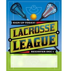 Lacrosse League Banner vector image vector image