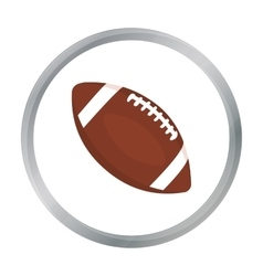 Rugby ball icon cartoon single sport icon from vector