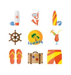 Summer holidays beach vacation vector