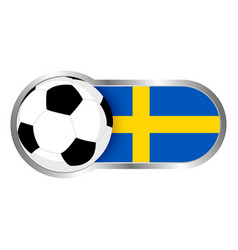 sweden soccer icon vector image