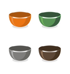 the bowls vector image