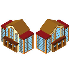 3d design for building with lots of windows vector image
