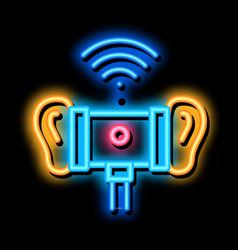 3dio binaural microphone icon vector
