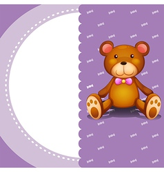 A stationery with a brown teddy bear vector