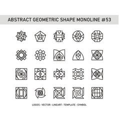 Abstract geometric shape monoline 53 vector