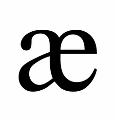 Ae ligature latin small letter icon vector