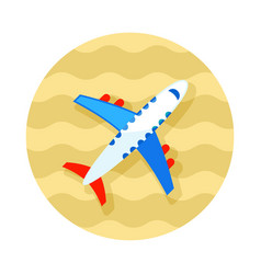 Aircraft icon travel summer vacation vector
