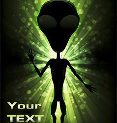 Alien Light Beams vector