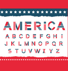 America alphabet set vector